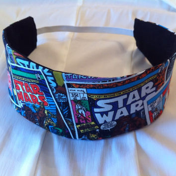 Star Wars Reversible Fabric Headband by StylishGeek on Etsy