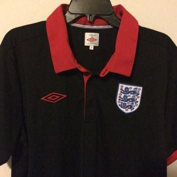 EUC Umbro England National Team Soccer Jersey Football Shirt Size XL Free shipping wit