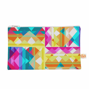 "Miranda Mol ""Triangle Checker"" Pastel Rainbow Everything Bag"