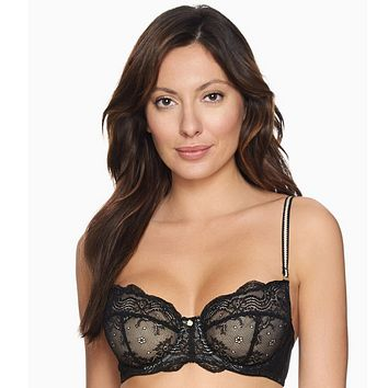 Lace Demi Cup Bra Blush Sheer Desire