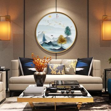Mountain art painting Abstract Painting on canvas Original art gold painting wall pictures textured painting cuadros abstractos hand painted
