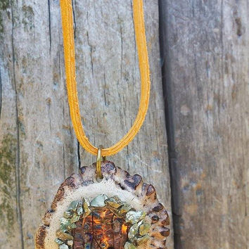 Antler Burr Necklace - Antler Necklace - Fairy Necklace - Enchanted Wood - Pyrite