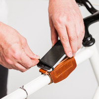 Thurman leather bike phone mount