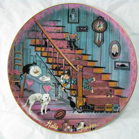 "Anna Perenna Buckley Moss ""HELLO GRANDPA"" PORCELAIN Art Plate #5529 New! mib! Free Shipping!"