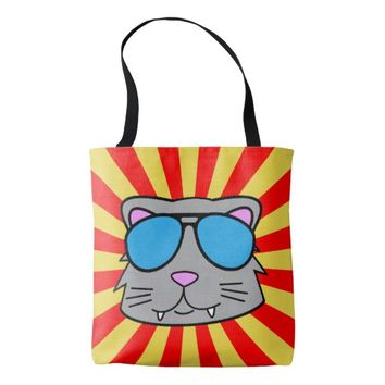 Super Duper Cool Cat Tote Bag
