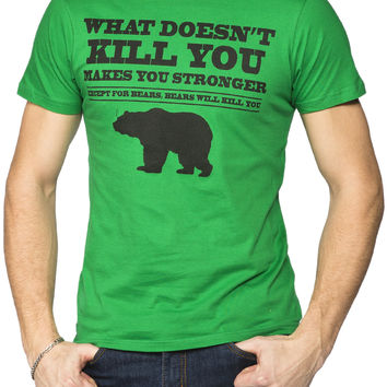Guys 'Bears with kill you' Graphic Tee