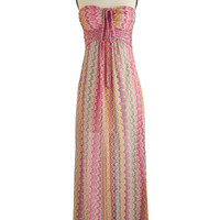 ModCloth Long Strapless Maxi Spa Rendezvous Dress