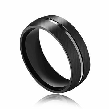 Shiny Jewelry Gift Stylish New Arrival Titanium Men Hot Sale Accessory Innovative Black Ring [10783259971]