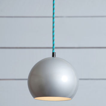 Eye Ball Pendant Light - Mid Century Pendant - Gray