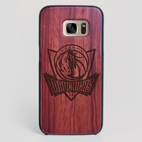 Dallas Mavericks Galaxy S7 Edge Case - All Wood Everything
