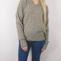 Vintage 60s Neutral Cable Knit Sweater