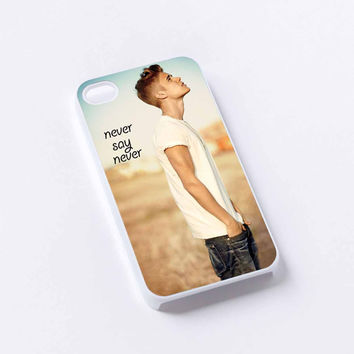 Justin Bieber Never Say Never iPhone 4/4S, 5/5S, 5C,6,6plus,and Samsung s3,s4,s5,s6