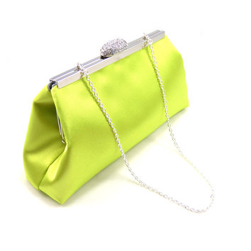 Lime Green and Steel Grey Wedding Clutch