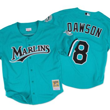 The Andre Dawson 1995 Authentic Mesh BP Jersey Florida Marlins