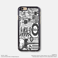 The Beatles Music Poster iPhone 6 6Plus case iPhone 5s case iPhone 5C case iPhone 4 4S case Samsung galaxy Note 2 Note 3 Note 4 S3 S4 S5 case 489