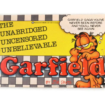Vintage 1986 The Unabridged Uncensored Unbelievable Garfield By Jim Davis, Vintage Paperback Comic Book For Kids