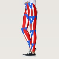 Leggings with flag of Puerto Rico, USA