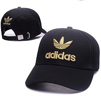 ADIDAS Clover 2018 new summer sun protection sunhat hip hop couple fashion hat F0675-1 black