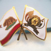 NDGW Flag Pin Native Daughters of the Golden West California Women's Organization Accessories for Her