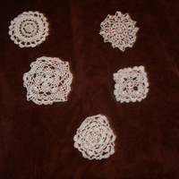 Handmade Crocheted white doilies by CanadianCraftCritter on Etsy