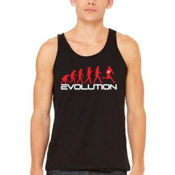 evolution of rugby funny Tank Top