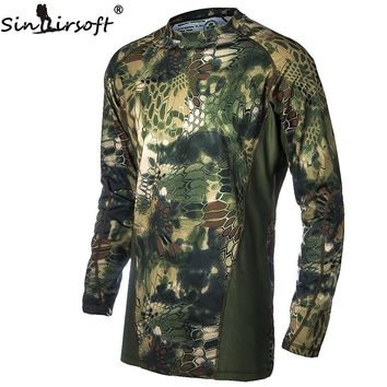 Hunting Military Camouflage  Clothes Airsoft T-shirt  Outdoor Sports Camping Hiking Survival Shirt Tactical Suit Paintball Gear