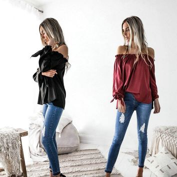 Chicloth Off the Shoulder Puff Sleeve Blouse