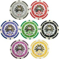 Bluff King 1500 Clay Composite Poker Chips Without Carrying Case