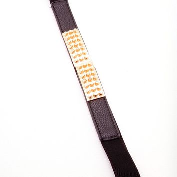 Tomboy Belt - Black/Gold