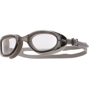 Tyr - Special Ops 2.0 Polarized Grey Swim Goggles / Clear Lenses