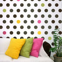 Wall stencil Polka Dot Allover LG Easy wall by CuttingEdgeStencils