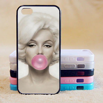 Marilyn Monroe bubble gum case, iPhone 4/4s/5/5s/5C, Samsung Galaxy S2/S3/S4/S5/Note 2/3, Htc One S/M7/M8, Moto G/X