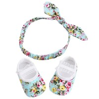 Baby Floral Shoe & Headband Set [FREE OFFER]