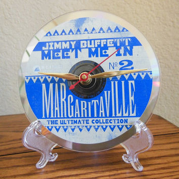 JIMMY BUFFETT CD Desk Clock (Meet Me In Margaritaville) - Stand Included