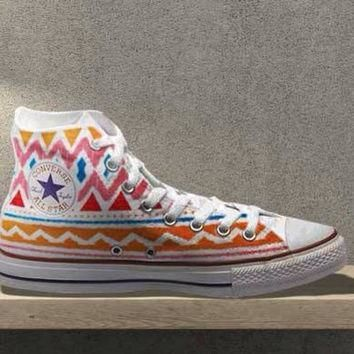 tribal aztec painted shoes converse custom made