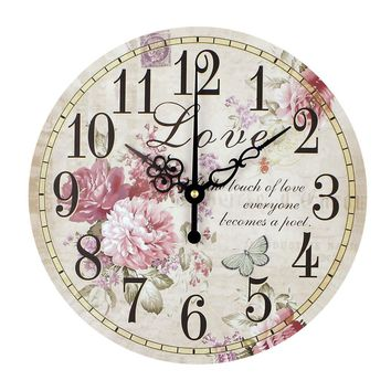 Home decoration large wall clocks silent wall clock vintage home decor fashion big wall watches relojes decoracion pared