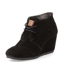 Suede Lace-Up Wedge Boot - TOMS