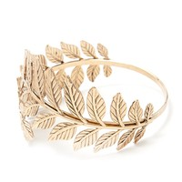 Etched Leaf Arm Bracelet