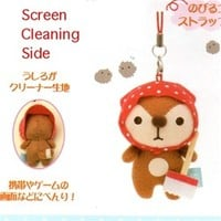 San-X Raccoon Kireizukin Seikatsu 2'' Plush Screen Cleaner Mascot