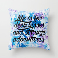 Life Is For... Pillow - Inspiring Quote Pillow - Throw Pillow - Quote Pillow - Inspirational Pillow - Bright Accent Pillow - Love Quote