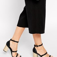 Senso Robbie Black Leather Barely There Heeled Sandals