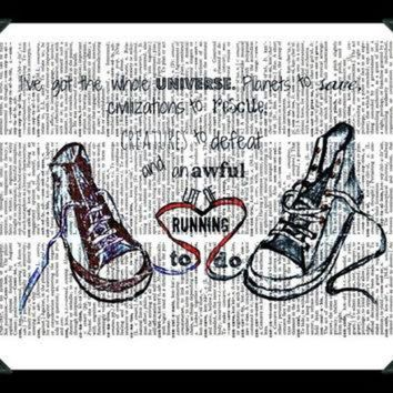 CREY9N Buy Any 2 Prints get 1 Free Converse Running Doctor Who Quote Vintage Dictionary Art