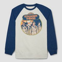 Men's Stranger Things Raglan Sweatshirt - Ivory