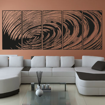 Vinyl Wall Decal Sticker Water Ripple Panels #OS_AA1548