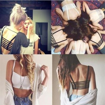 Fashion Strappy Bandage Summer Bralet Crop Top Bustier Casual Women's = 5617819521