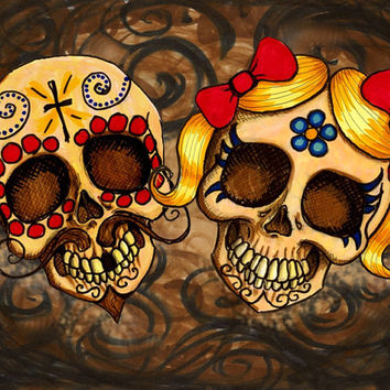 Pancho and Juanita Streched Canvas Print  (many sizes available)