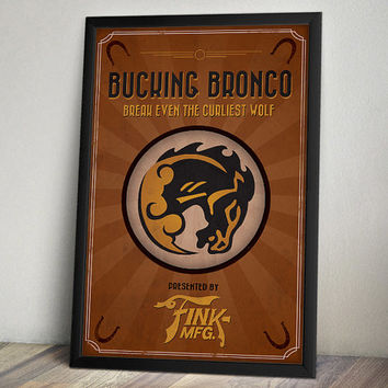 Bioshock Infinite Inspired Poster - Bucking Bronco Vigor