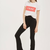 Skinny Ribbed Flare Trousers | Topshop