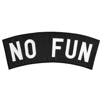 No Fun Back Patch