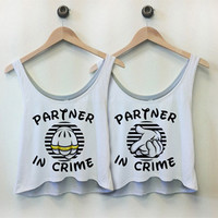 Partner In Crime 2: Custom Misses Bella Flowy Boxy Lightweight Crop Top Tank Top - Customized Girl